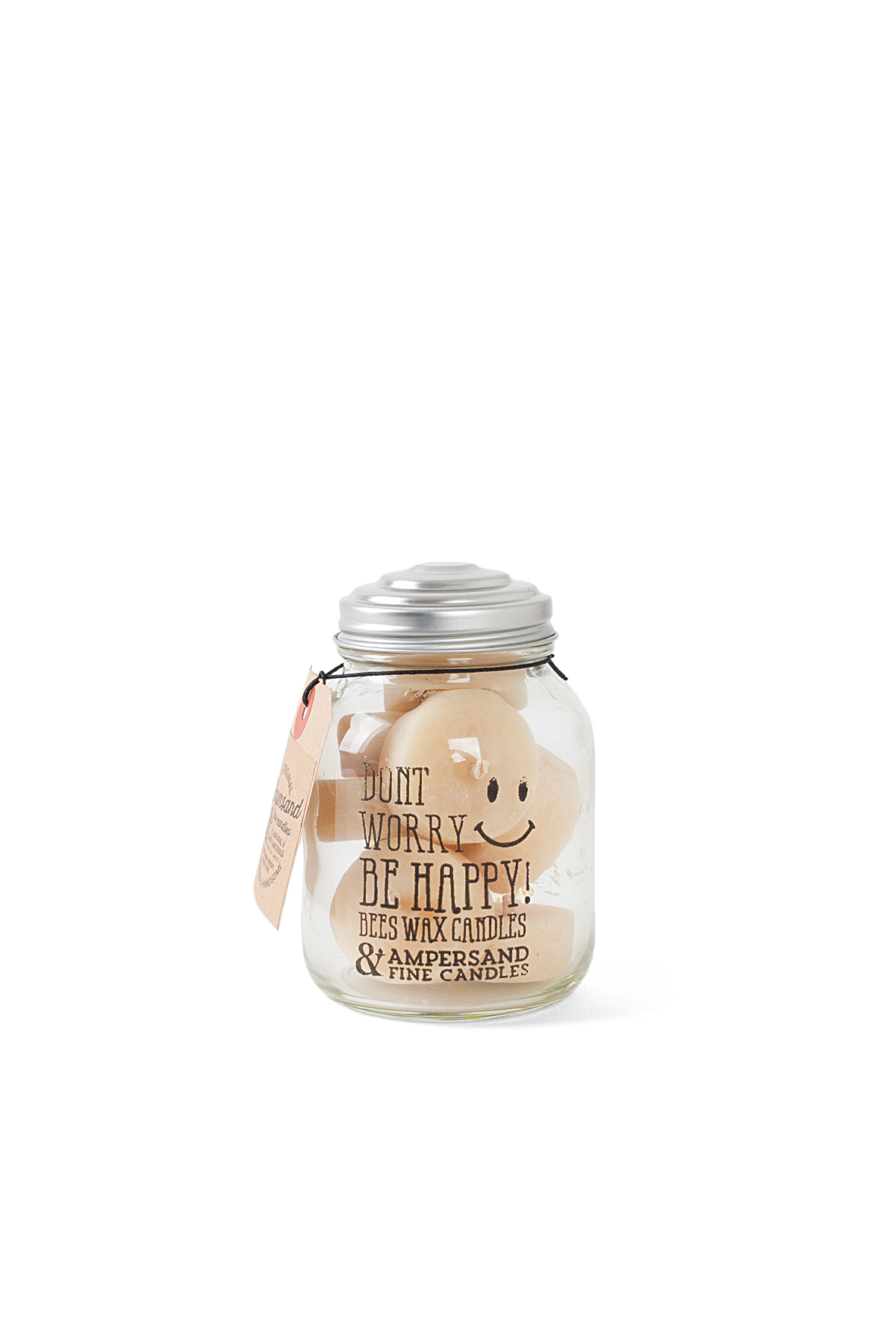 Ampersand Fine Candles : Don't Worry, Be Happy Jar (8piece)