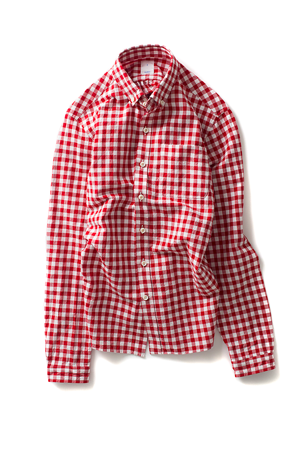 maillot : Sunset Big Gingham BD Shirts (Big Red x White)