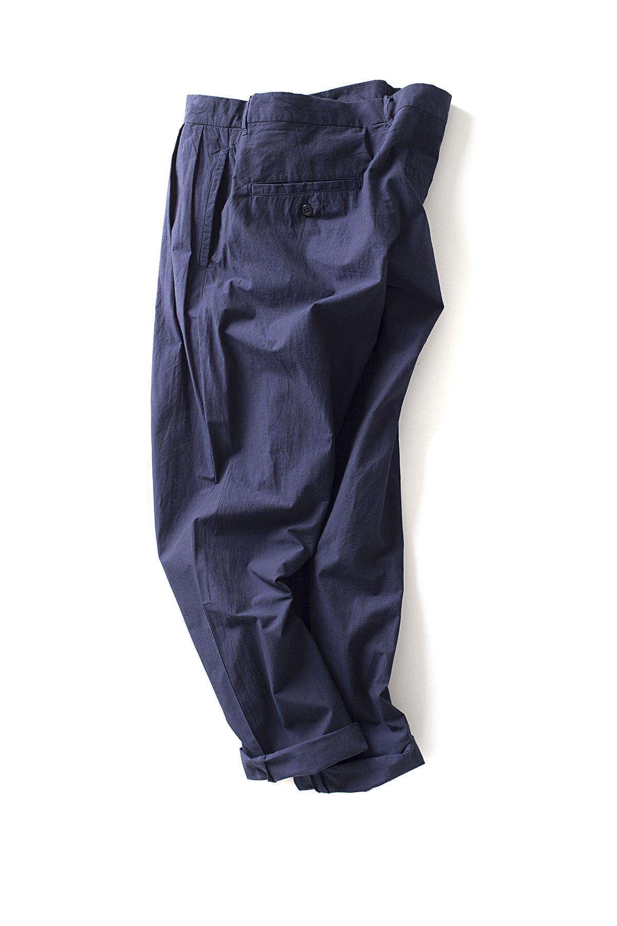 maillot : Heather Cotton Tuck Tapered Pants (Navy)