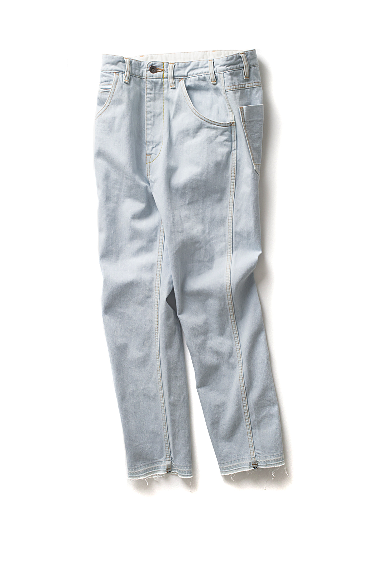 bukht : Slim Tapered 5P Jeans  Ice Wash (Ice Indigo)