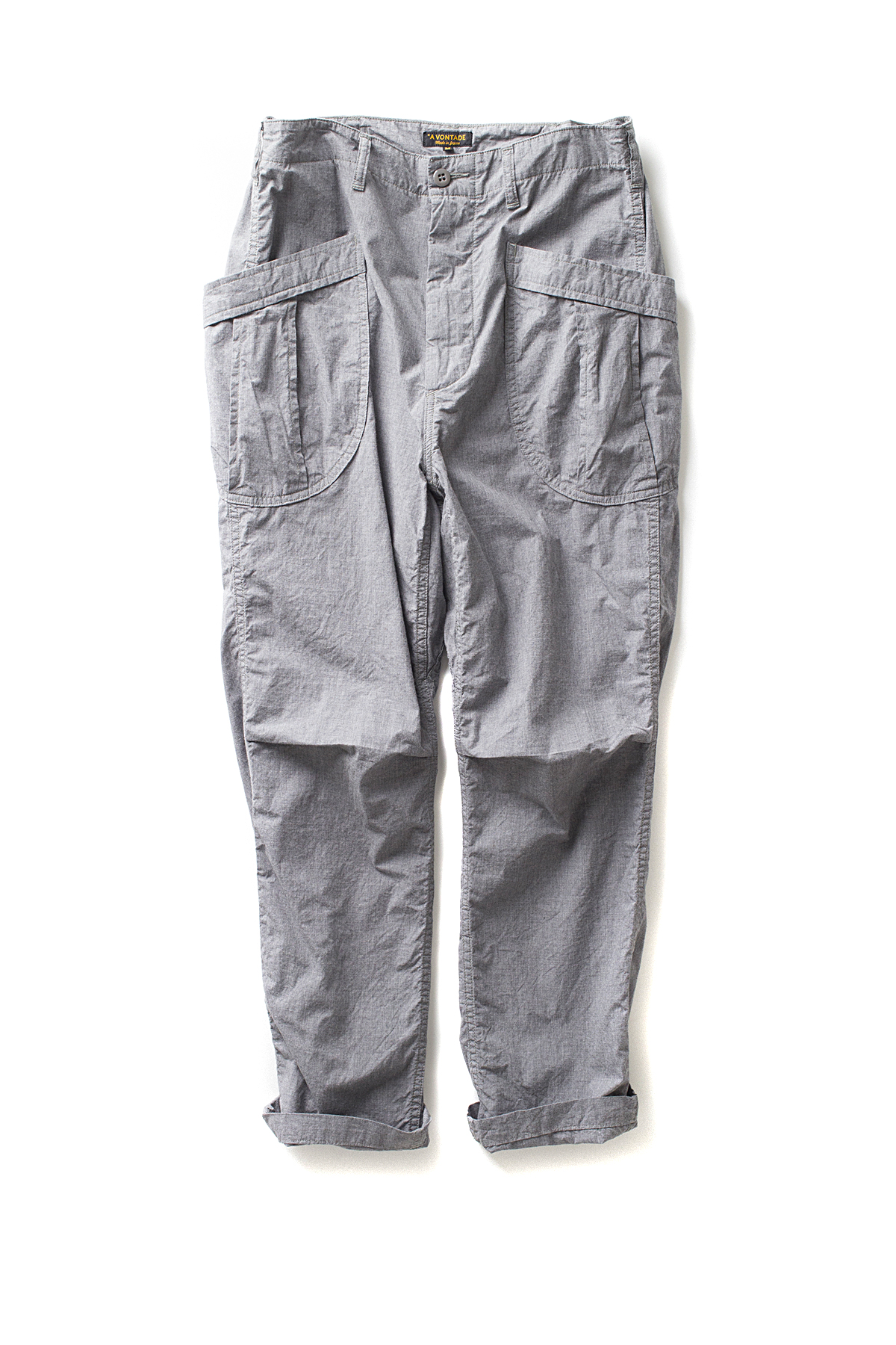 A vontade : Fatigue Trousers Ripstop (Grey Top)