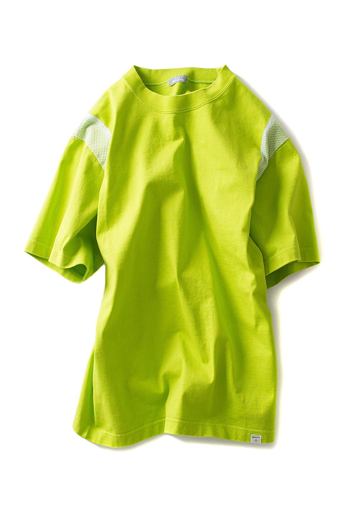 kolor / BEACON : Mesh Lined Tee (Lime Green)
