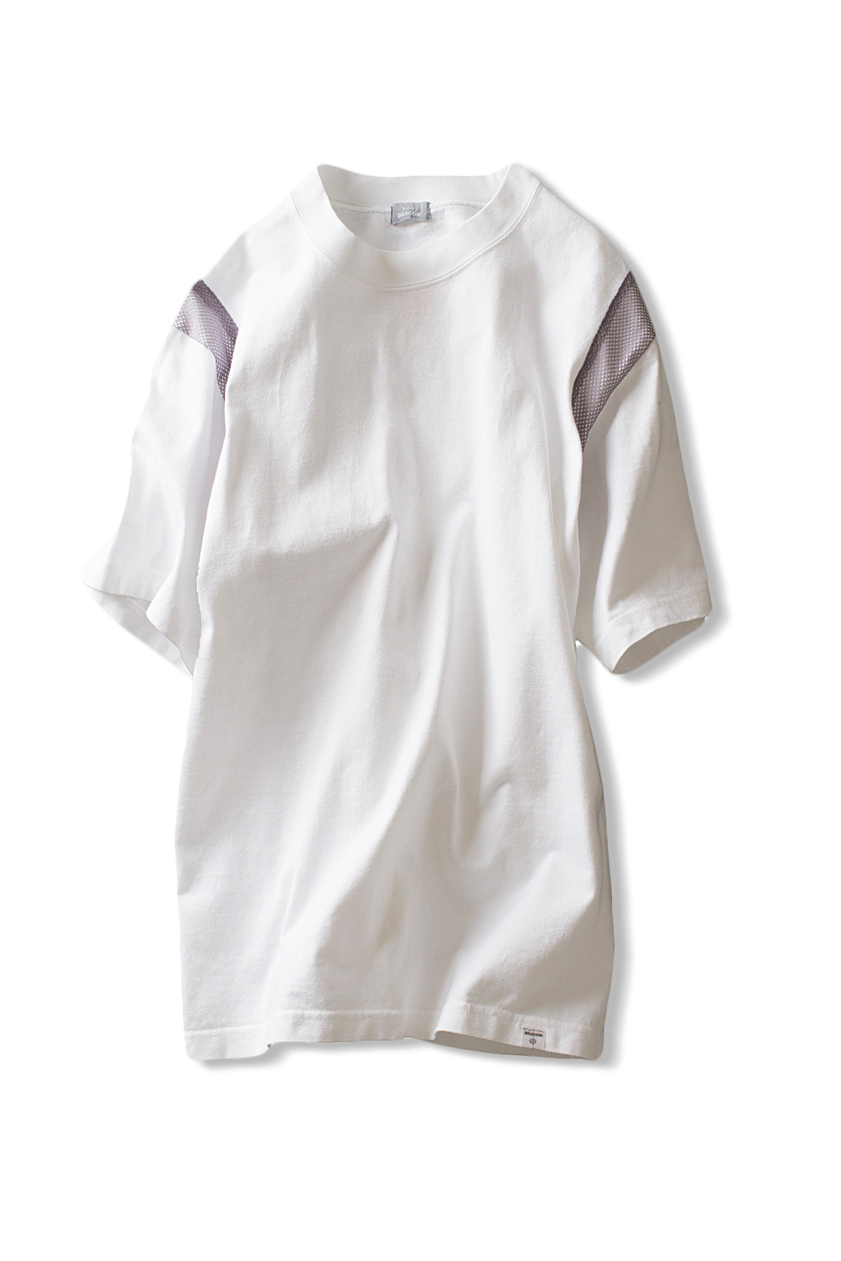 kolor / BEACON : Mesh Lined Tee (Fluorescent White)