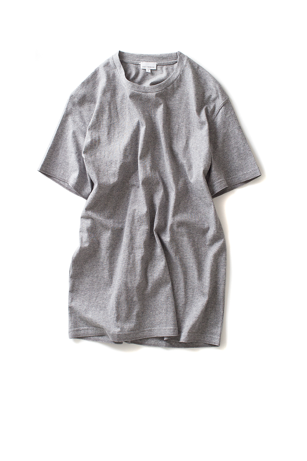AECA WHITE : Half Sleeve Tee (Grey)
