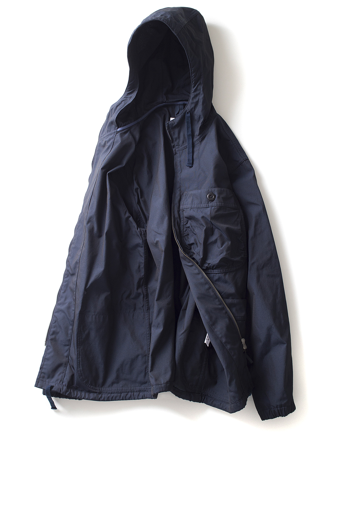 Ts(s) : Gathered Round Pocket Zip-up Parka (Navy)