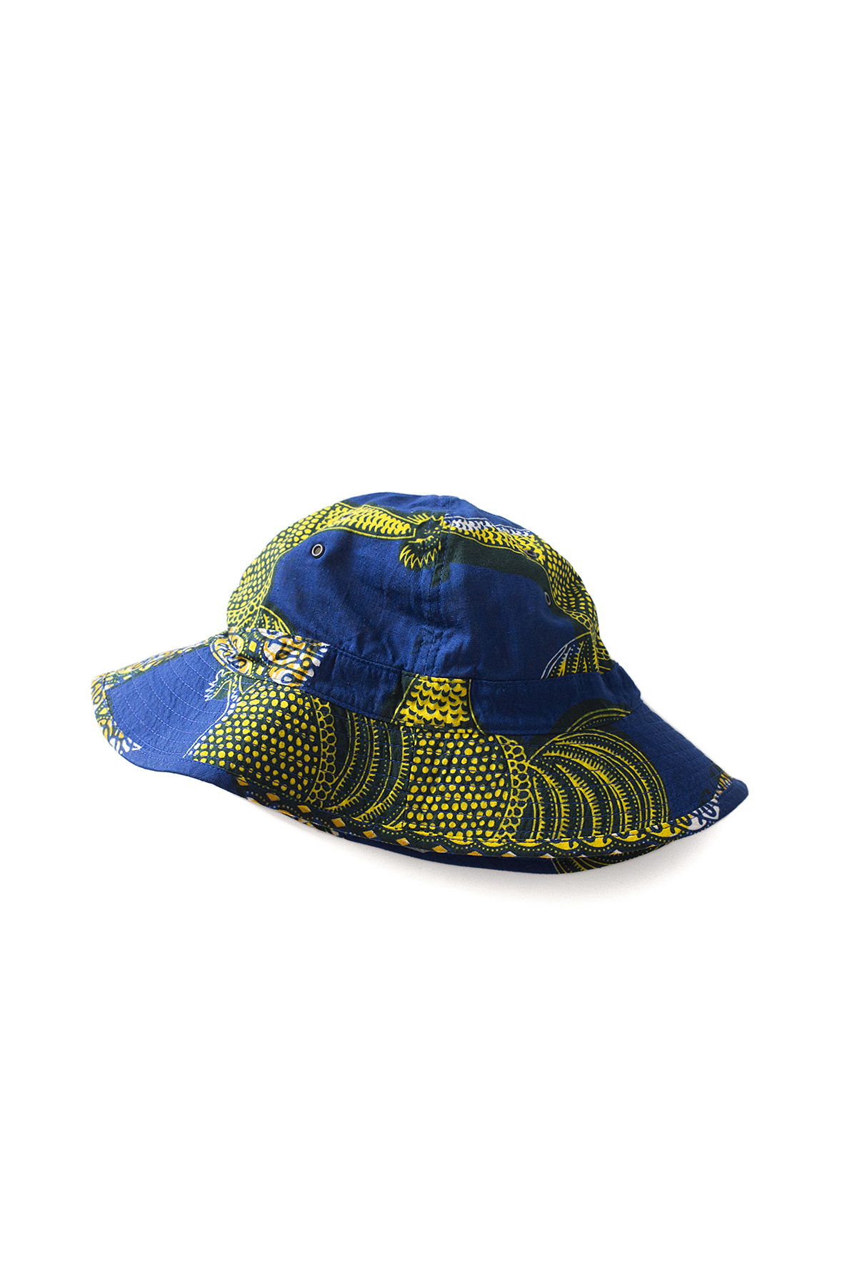 Infielder Design : Batik Military Hat (Blue x Yellow)