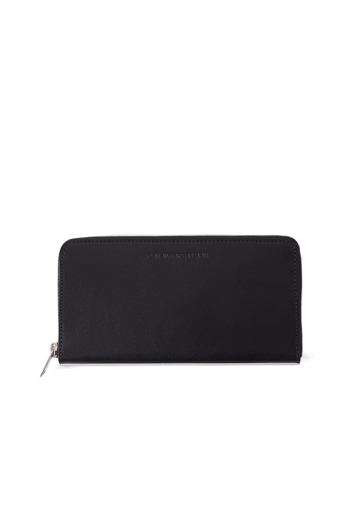 JOHN LAWRENCE SULLIVAN : Zipped Round Wallet (Black)
