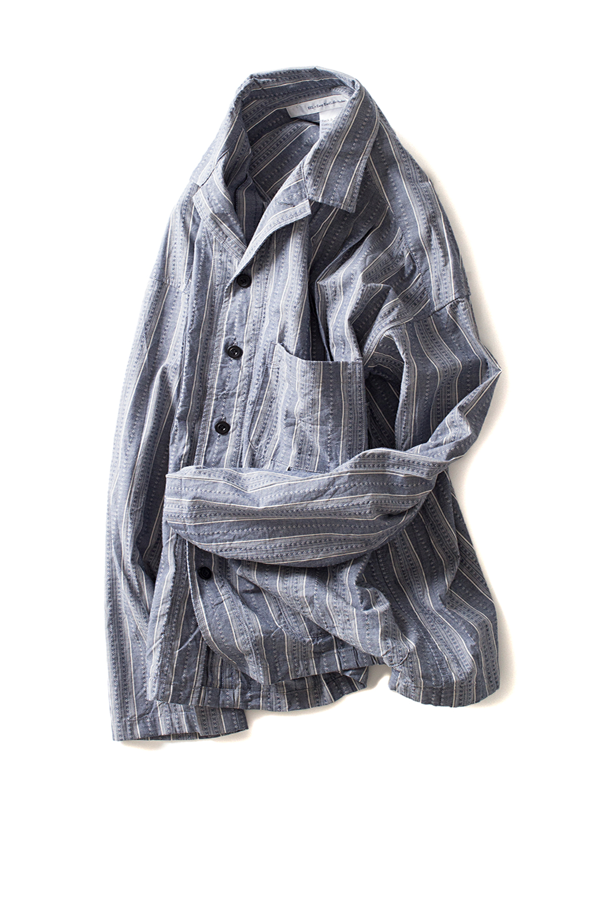 EEL : Tuck & Male Shirt Jacket (Sax Stripe)