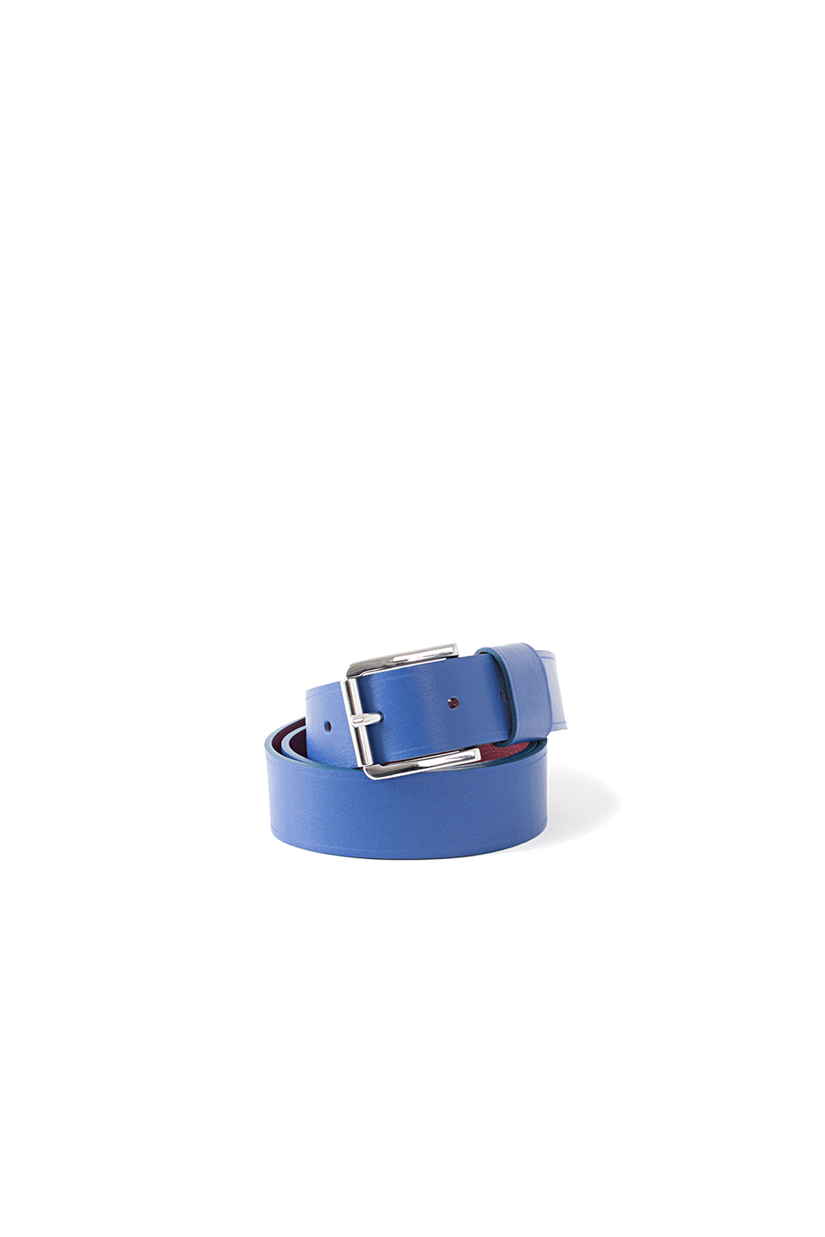Sofie D'Hoore : Verdict 30 Bi Color Leather Belt (Electricblue/Burgundy)