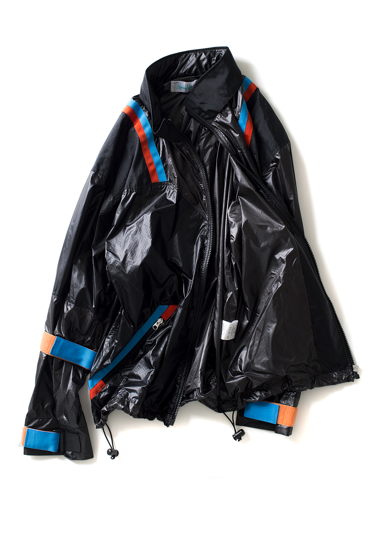 Hombre Niño : Multi Color Nylon Jacket (Black)