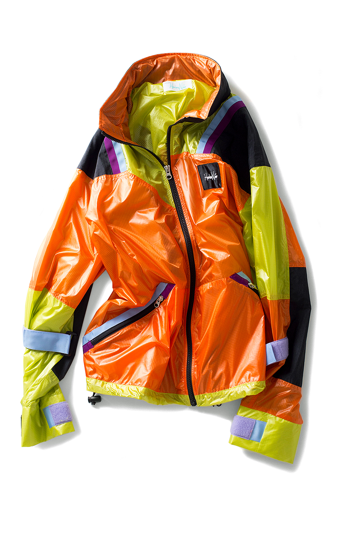 Hombre Niño : Multi Color Nylon Jacket (Orange)