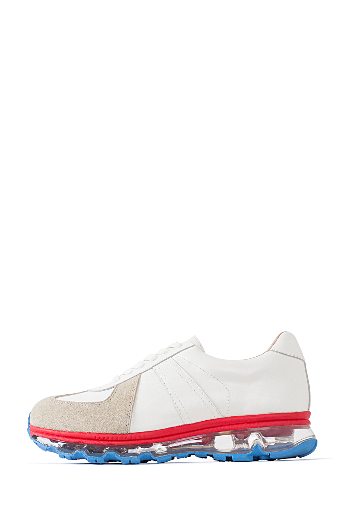 Tomo & Co. : German Trainer (White Leather / Trico Sole)