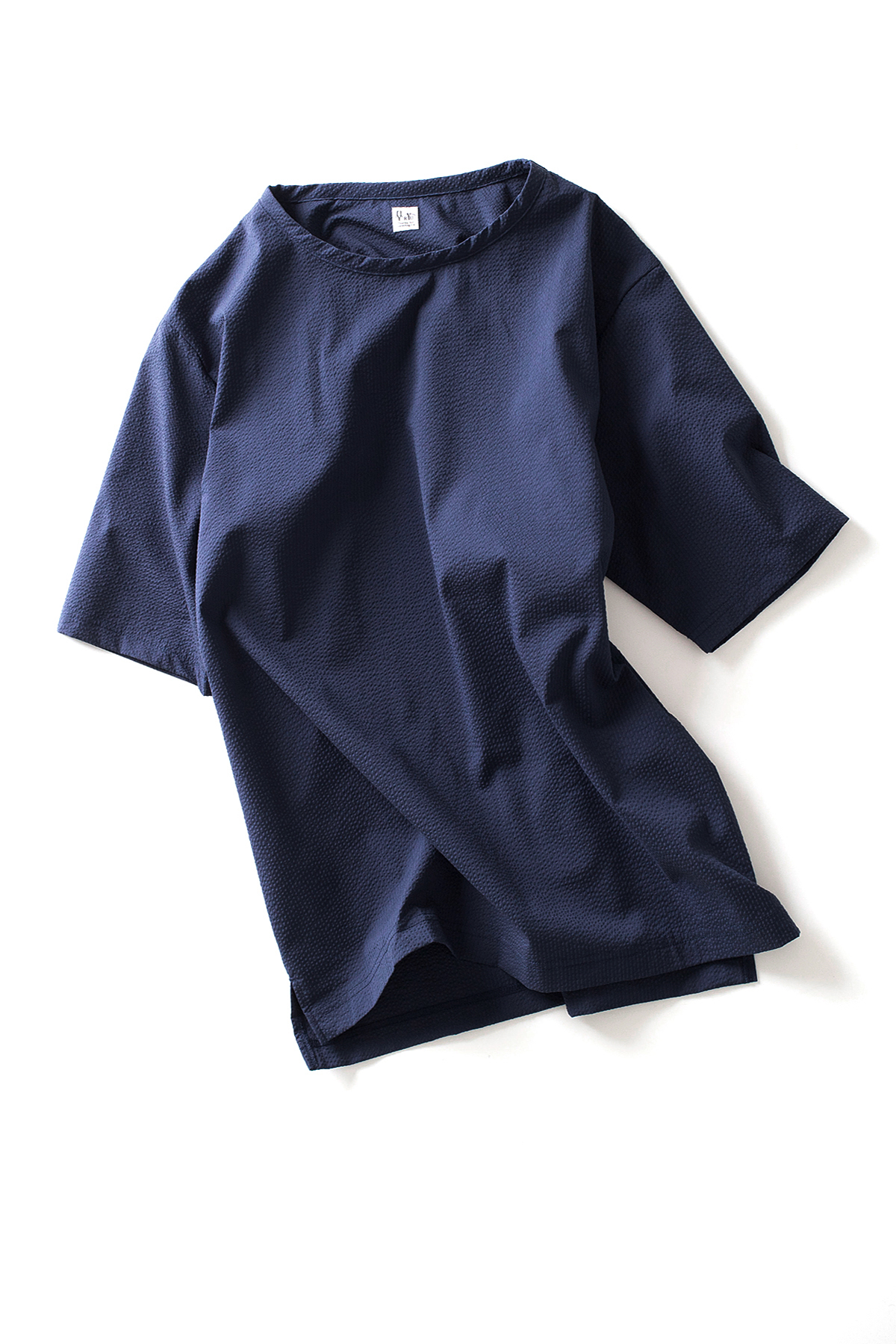 RYU : Seersucker Half Sleeve Shirt (Navy)