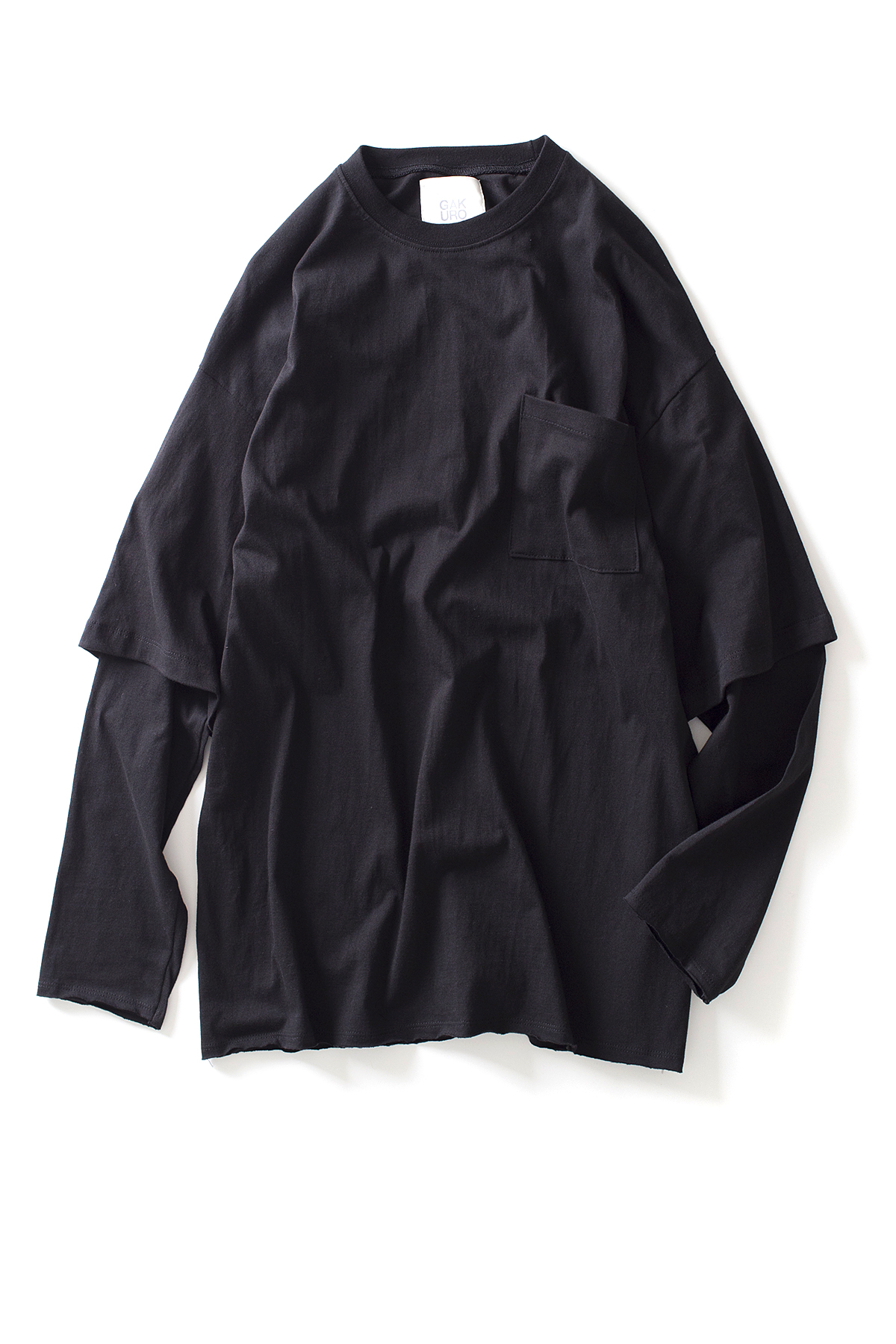 GAKURO : Layered Sleeve T-Shirt (Black)