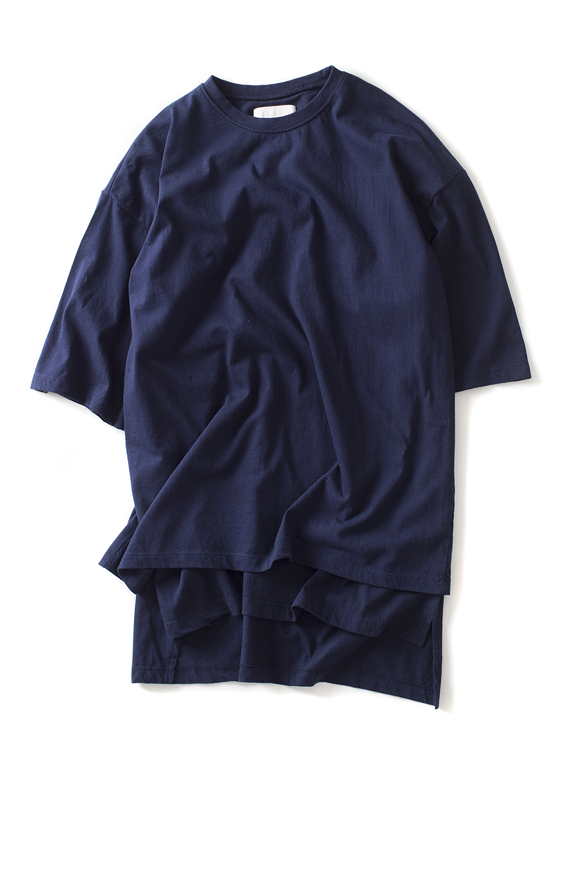 GAKURO : Layered Oversized S/S T-Shirt (Navy)