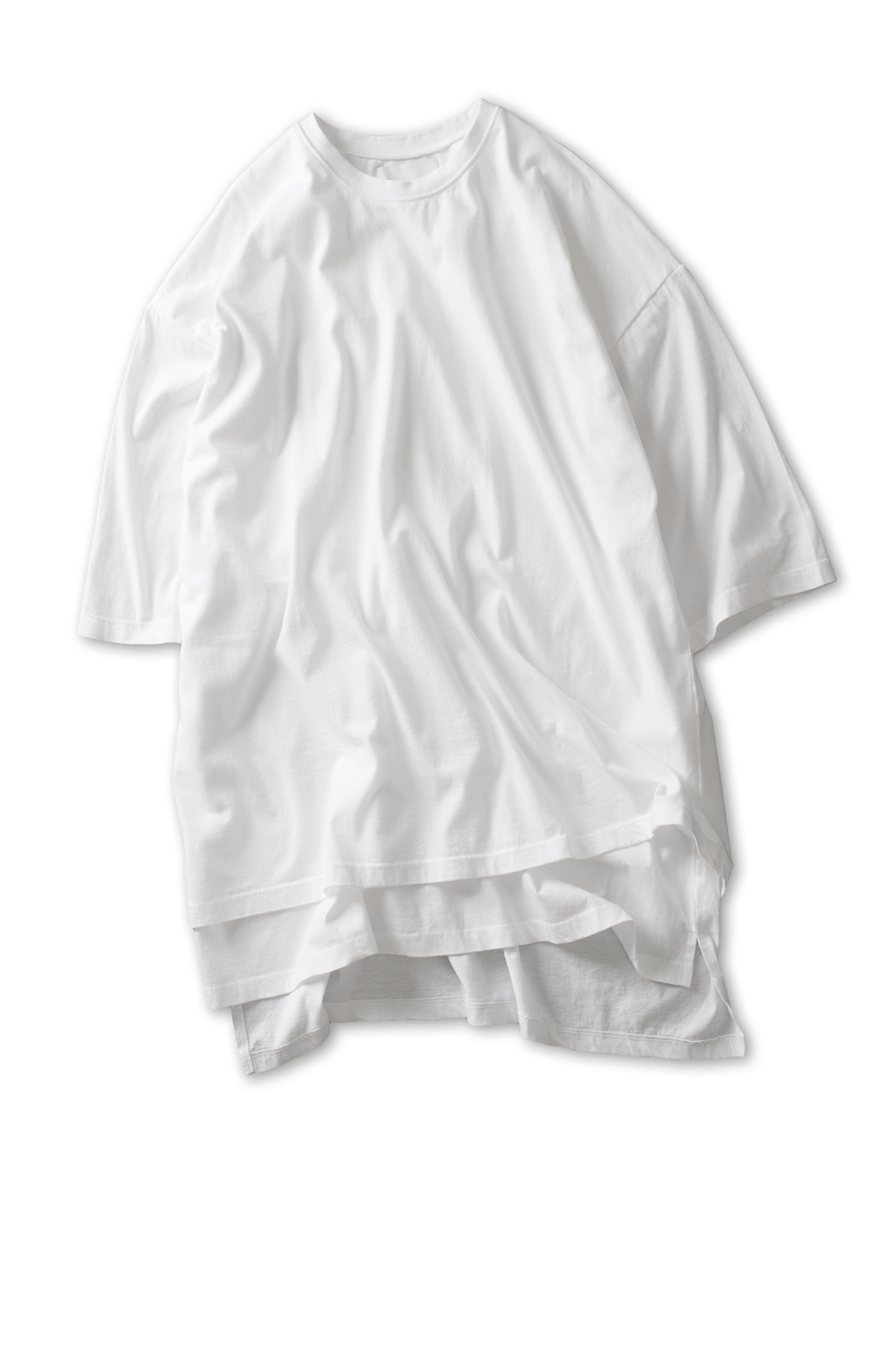 GAKURO : Layered Oversized S/S T-Shirt (White)