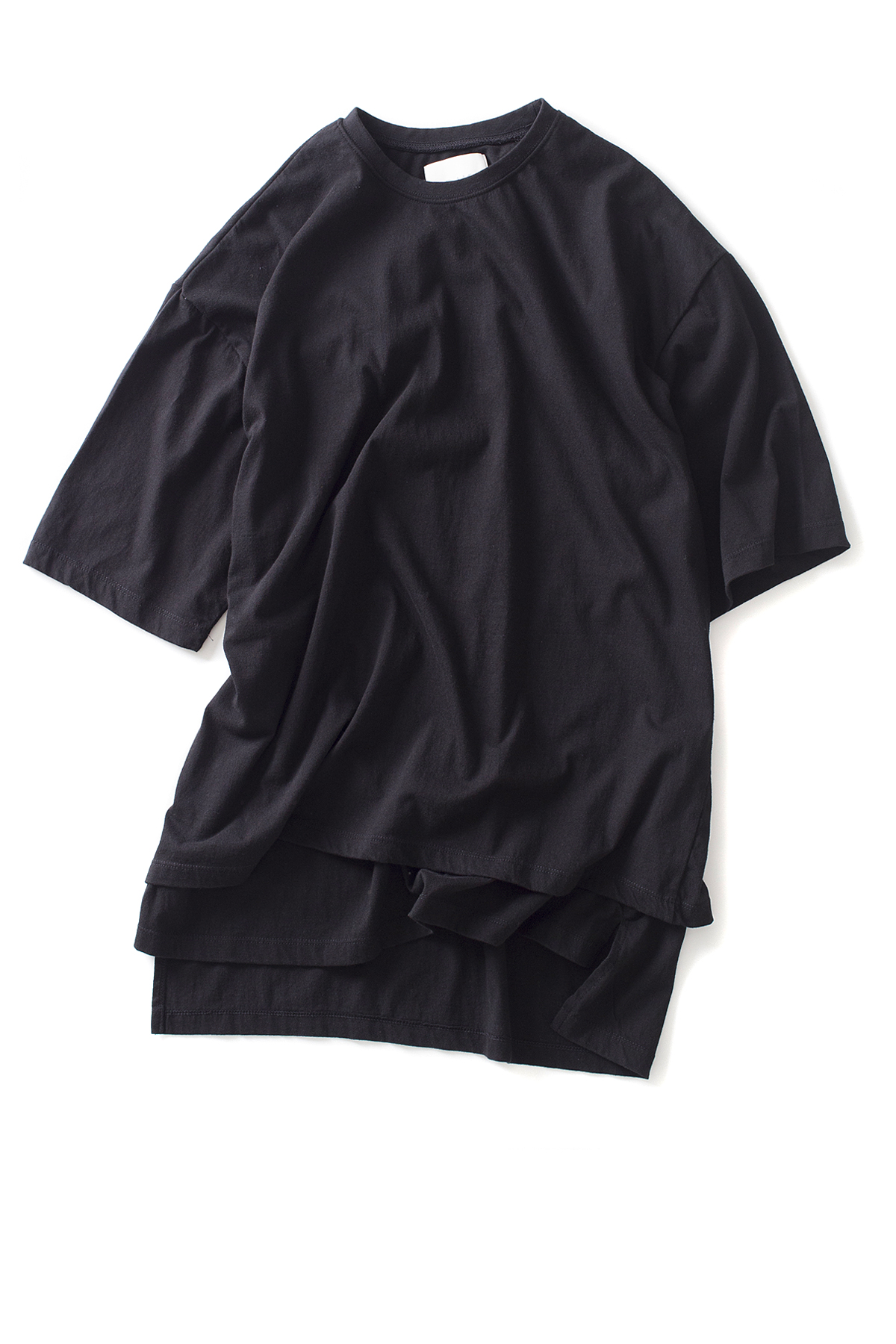 GAKURO : Layered Ovesized S/S T-Shirt (Black)