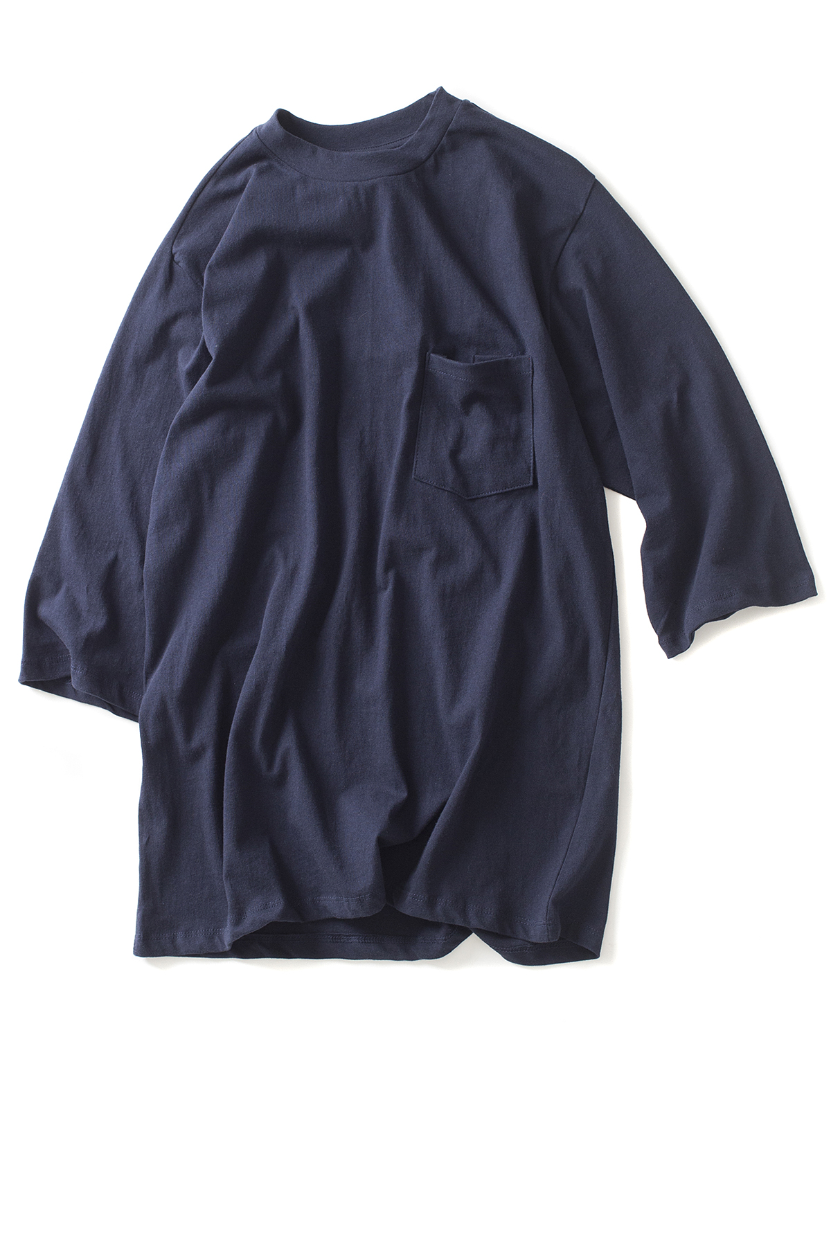 forumwear : One Side Raglan T-Shirt (Navy)