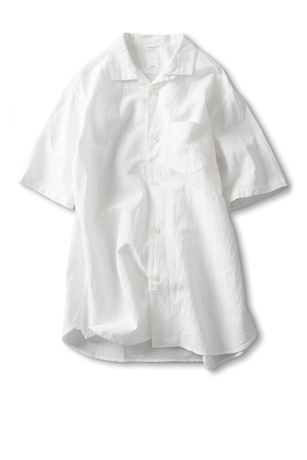 maillot : Sunset S/S Open Shirt (White)