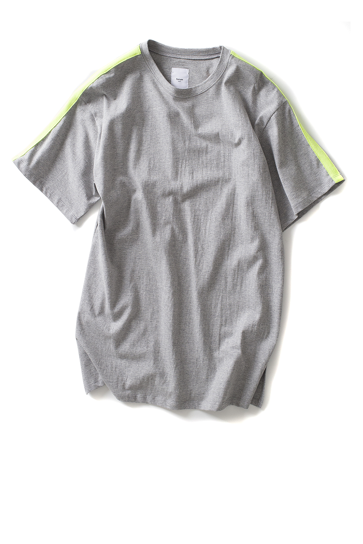 forumwear : Side Line Crewneck T-Shirt (Heather Grey)
