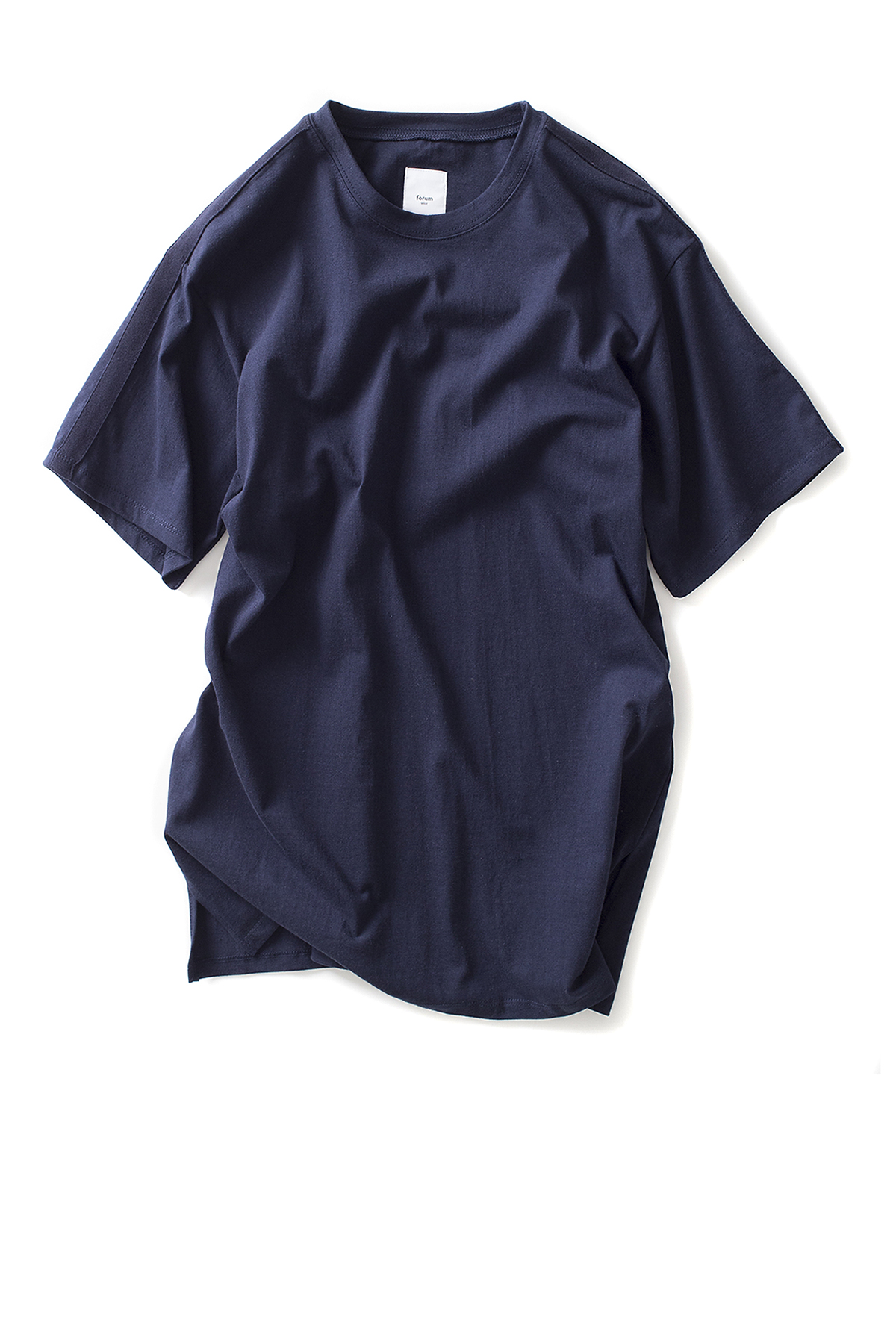 forumwear : Side Line Crewneck T-Shirt (Navy)