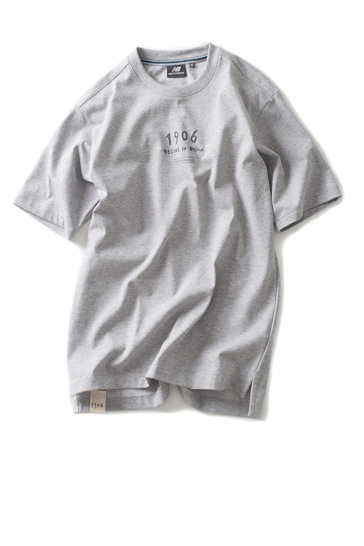 New Balance : UNI Drawing Pack Marathone Winner Tee (Grey)