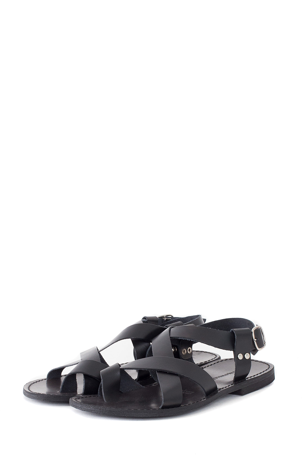 ATTIMONELLI'S : Soft Leather Flip Flops (Black)