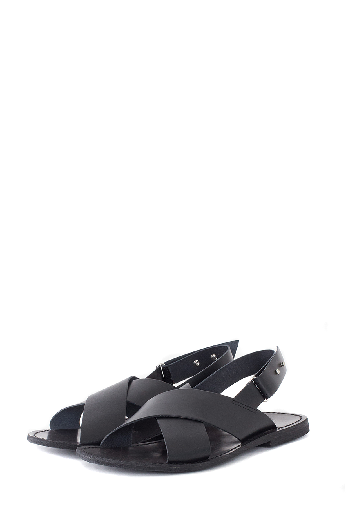 ATTIMONELLI'S : Soft Leather Sandals (Black)