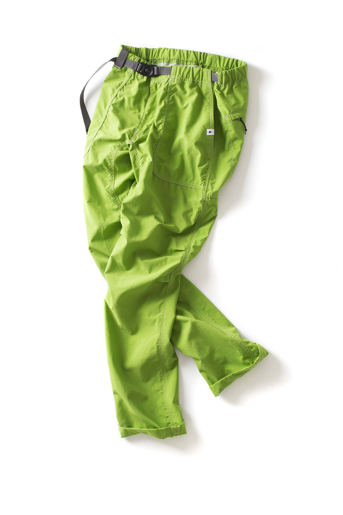 and wander : Nylon Climbing Pants (Yellow Green)