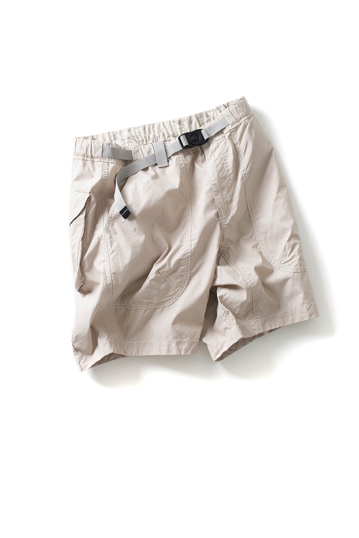 and wander : Dry Typewriter Short Pants (Beige)