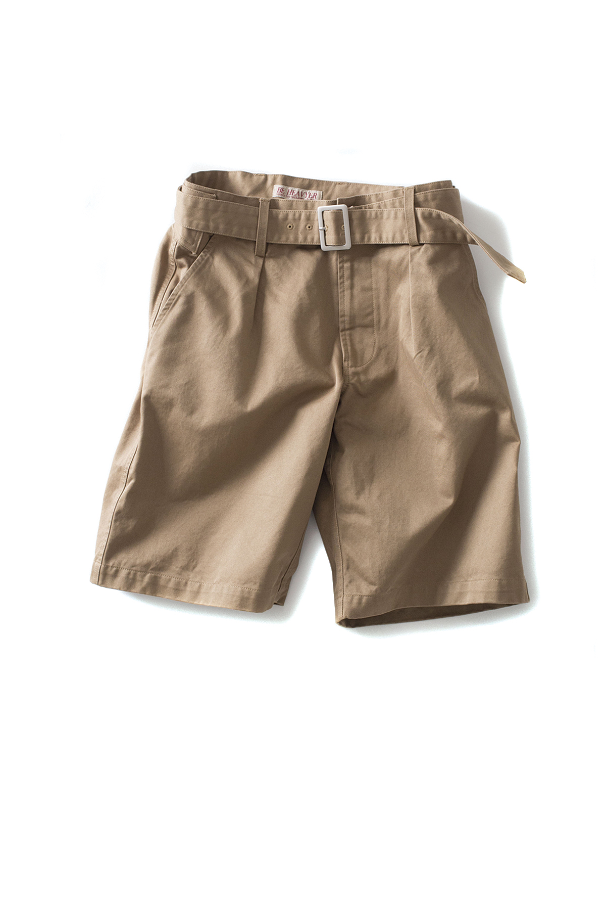 Be Heavyer : Belted Half Pants (Beige)
