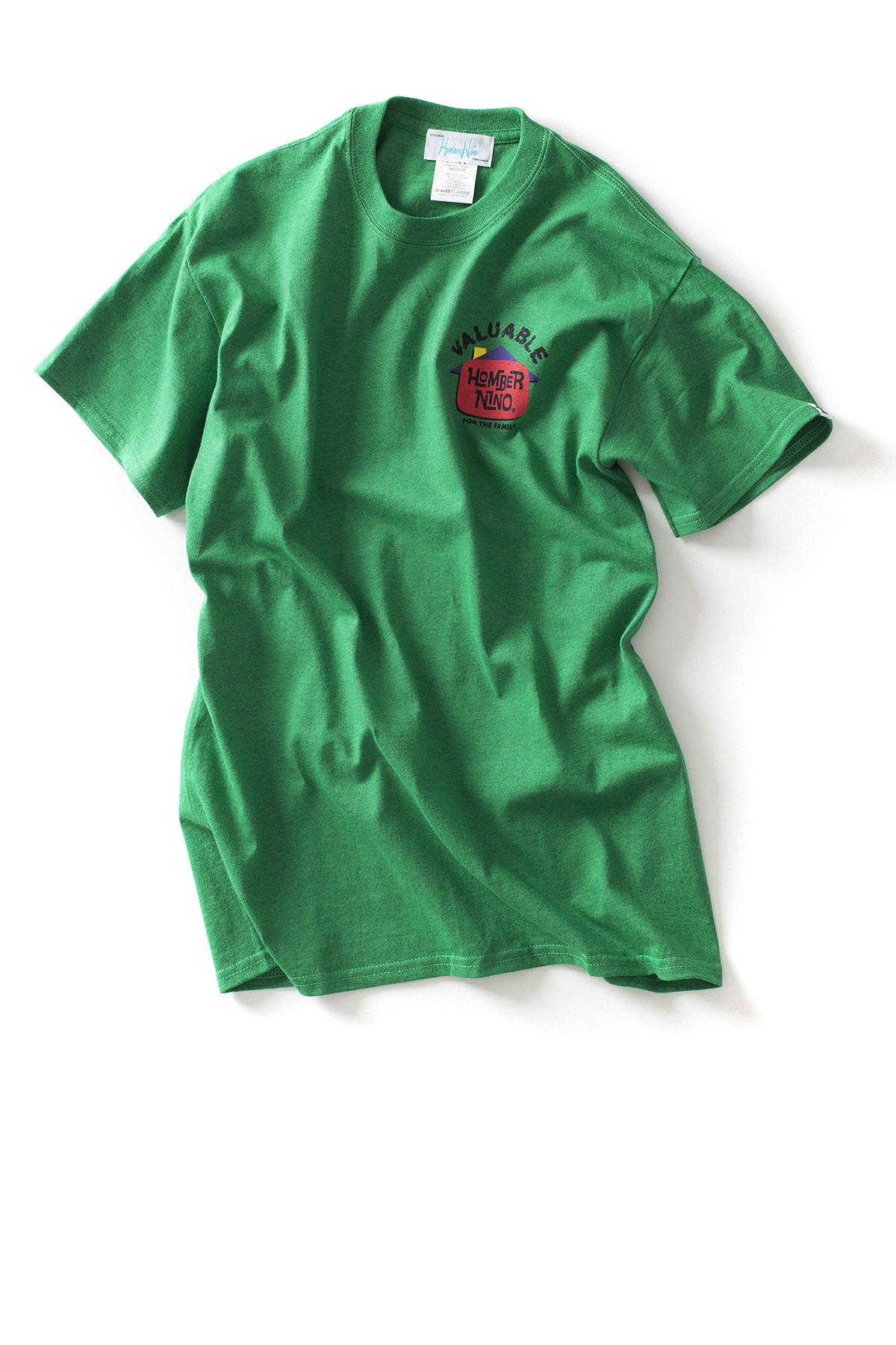 Hombre Niño : S/S Print Tee Valuable (Green)