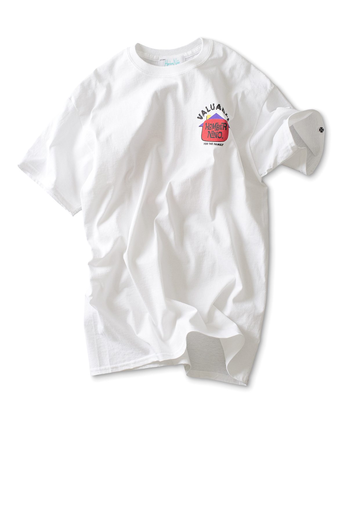 Hombre Niño : S/S Print Tee Valuable (White)