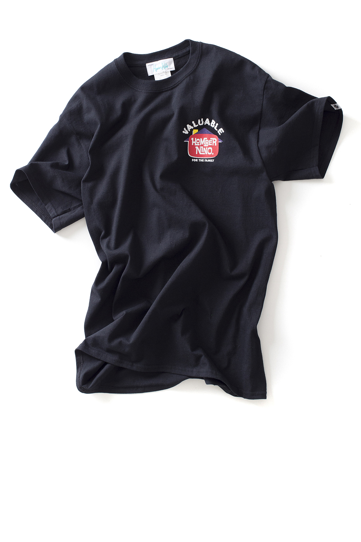 Hombre Niño : S/S Print Tee Valuable (Black)