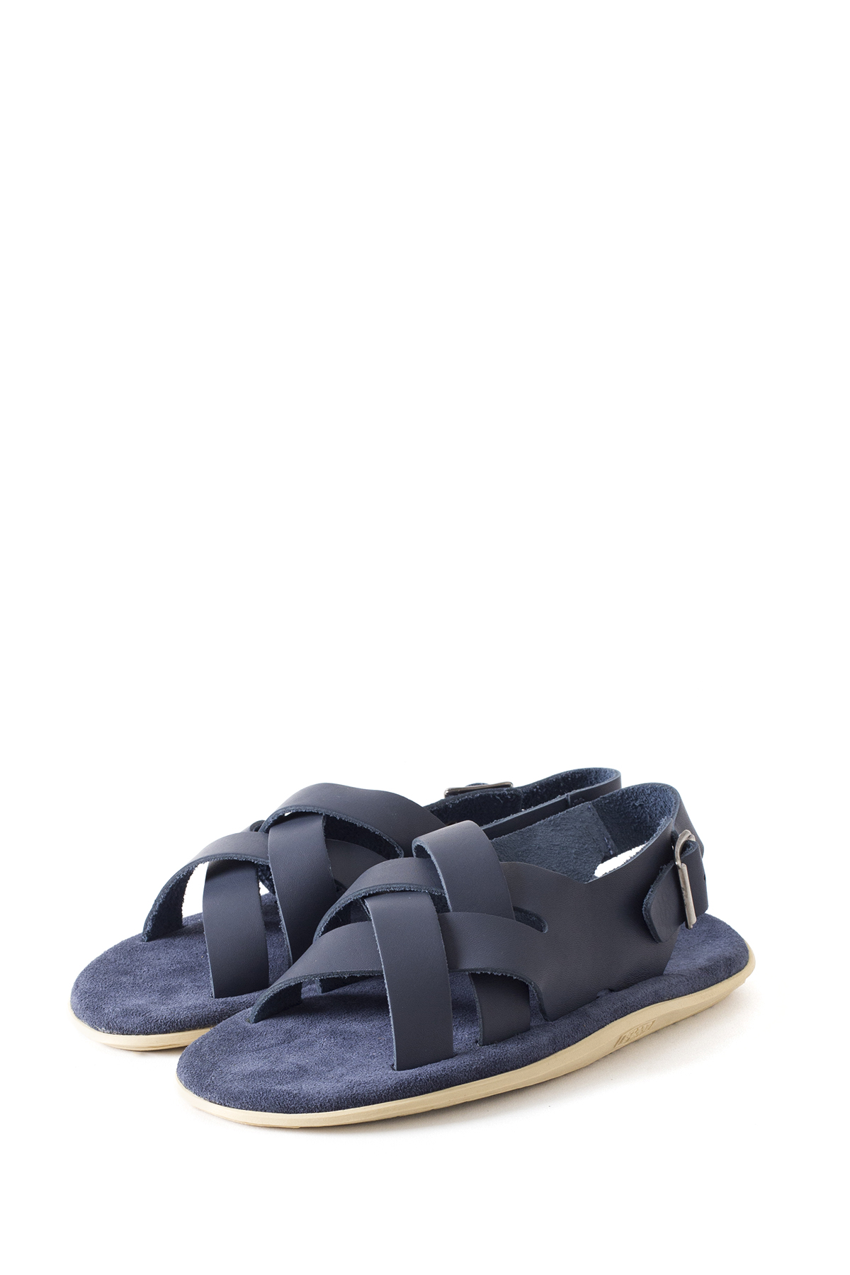 ISLAND SLIPPER : PT408 (Leather Suede / Navy)