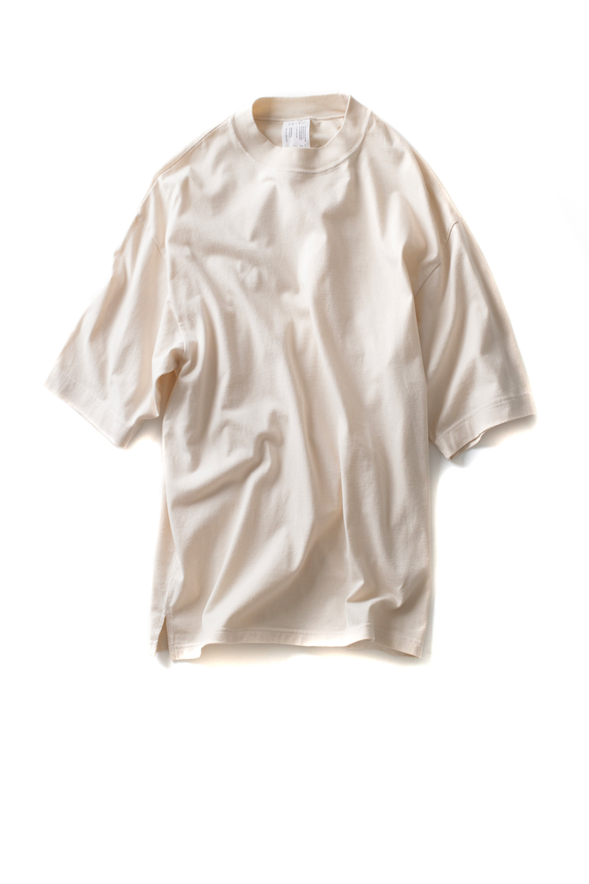 bukht : Wide Rib C/N Tee Solid (Off White)
