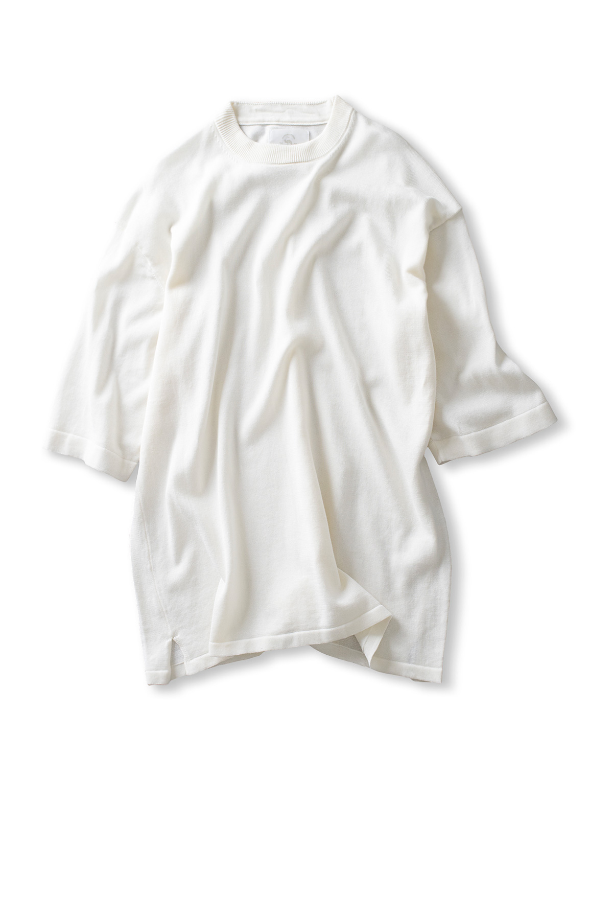 bukht : Wide Rib Knit Tee Solid (Off White)