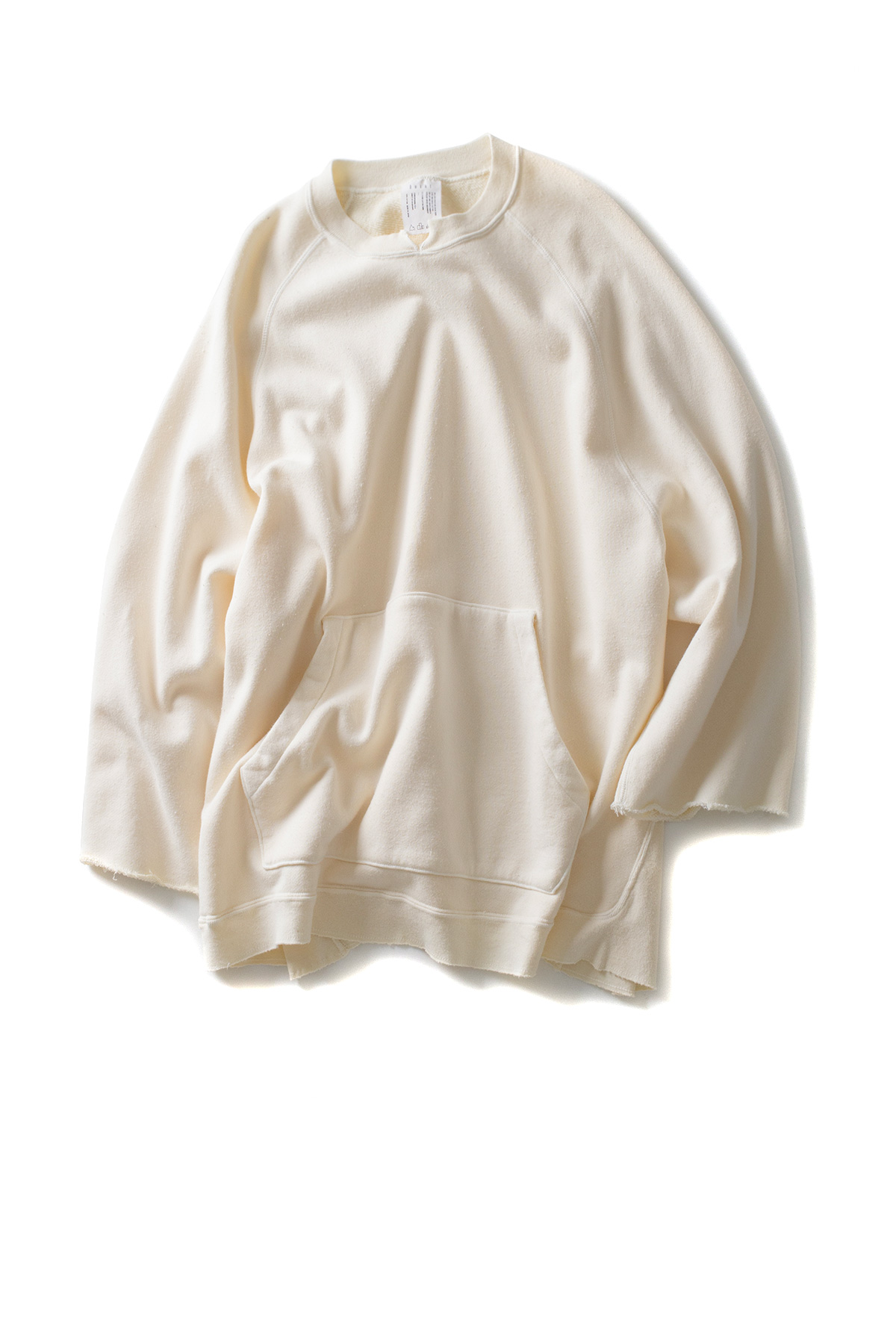 bukht : 3/4 Sleeve Crew Sweat (Ice Beige)