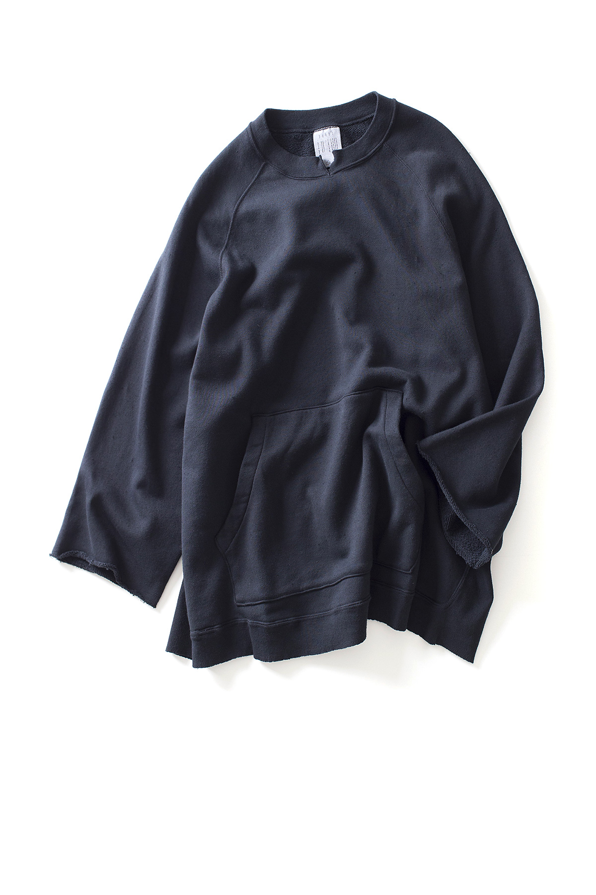bukht : 3/4 Sleeve Crew Sweat (Black)