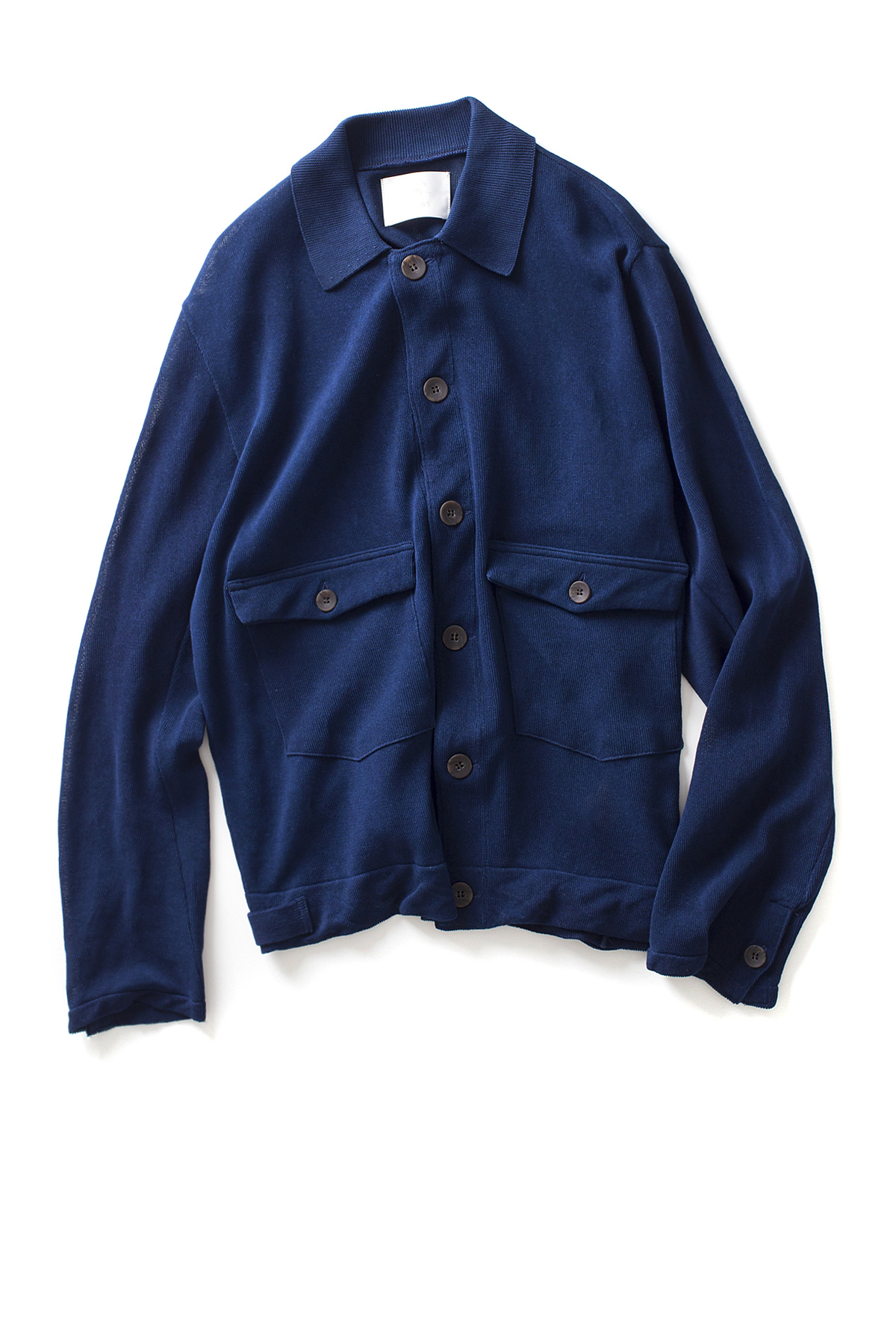 bukht : Officer Knit Jacket (Indigo)