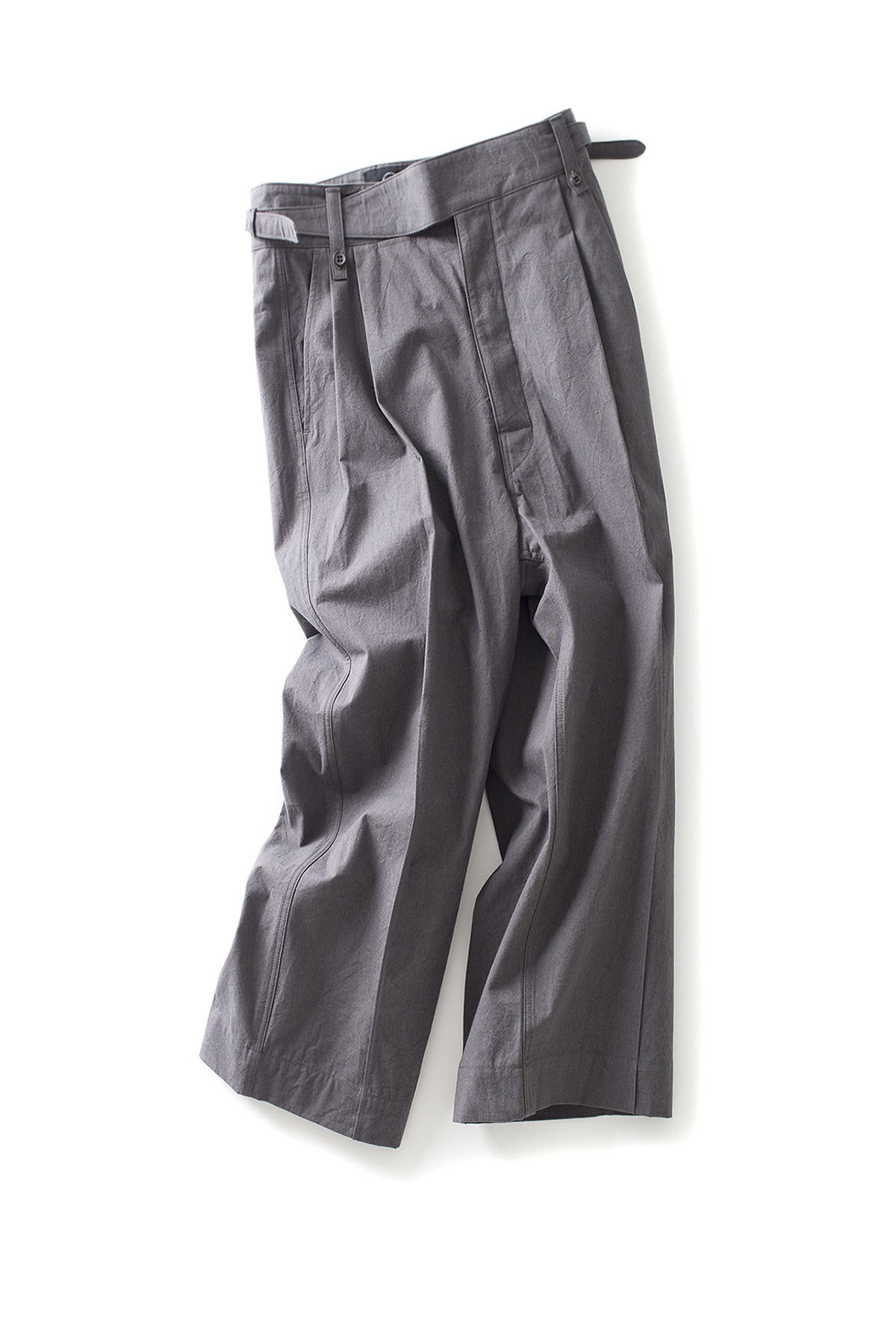 bukht : Pin Tuck Gurkha Pants (Charcoal)