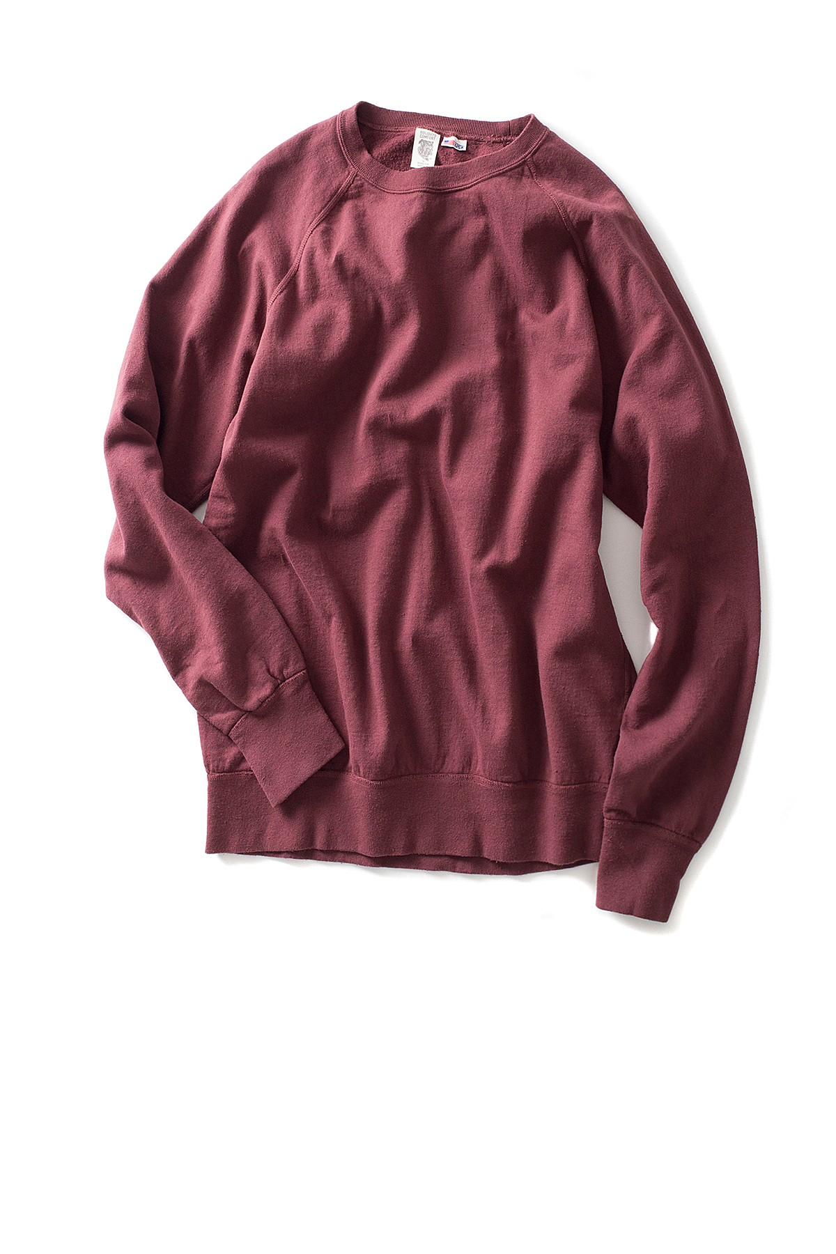 Riding High : 7.5oz USA Fleece Raglan Sweat (Burgundy)