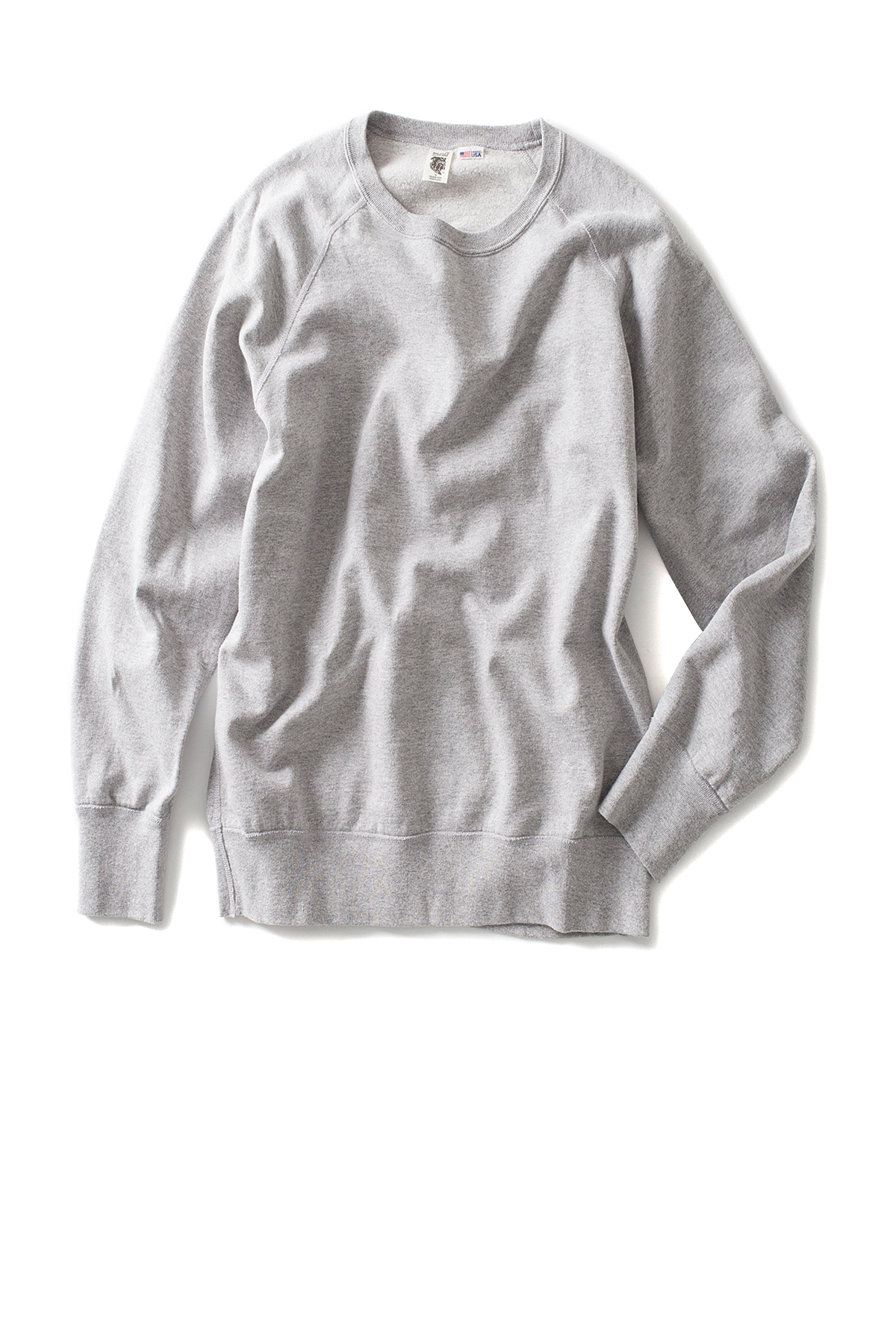 Riding High : 7.5oz USA Fleece Raglan Sweat (Mix Gray)
