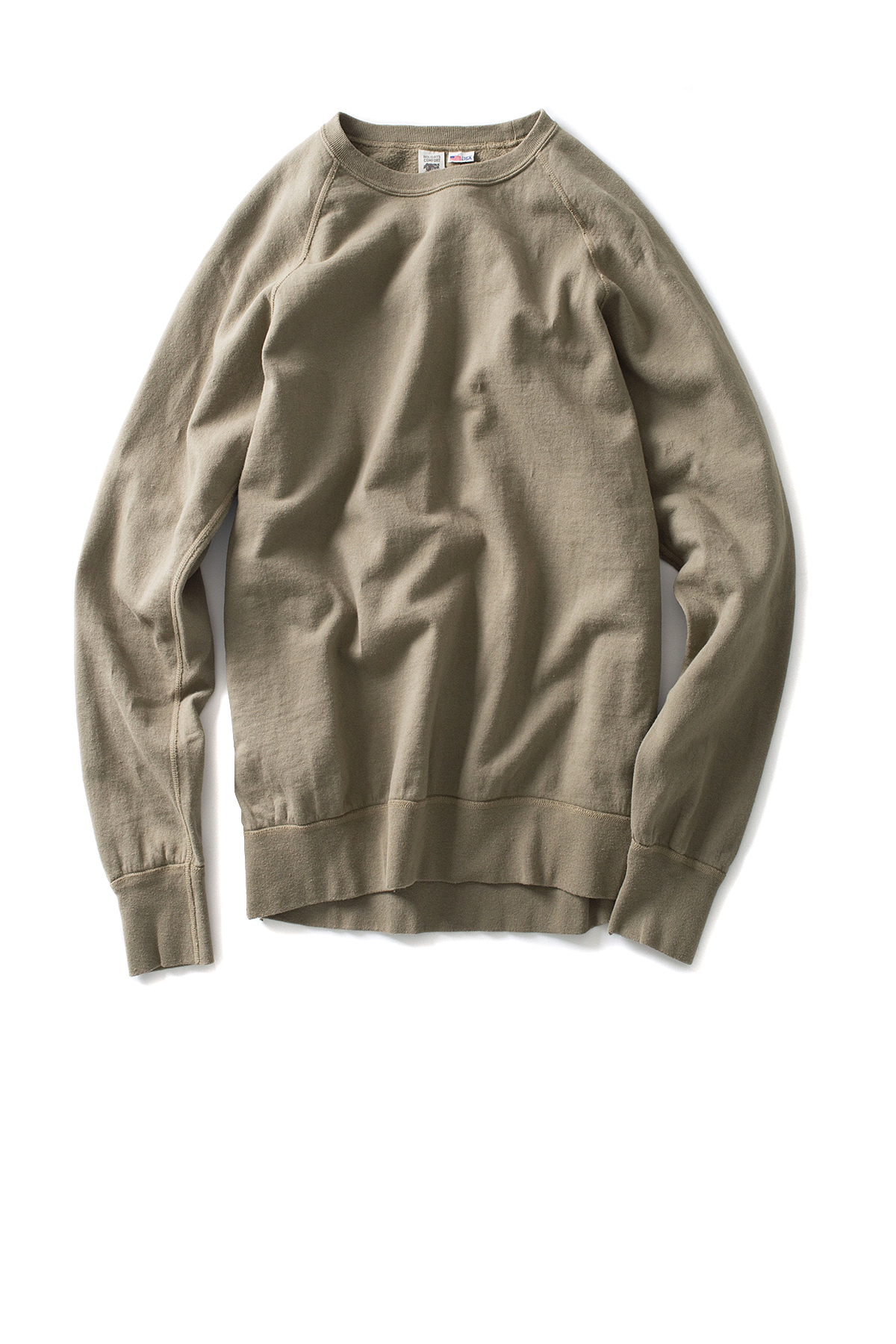 Riding High : 7.5oz USA Fleece Raglan Sweat (Olive)