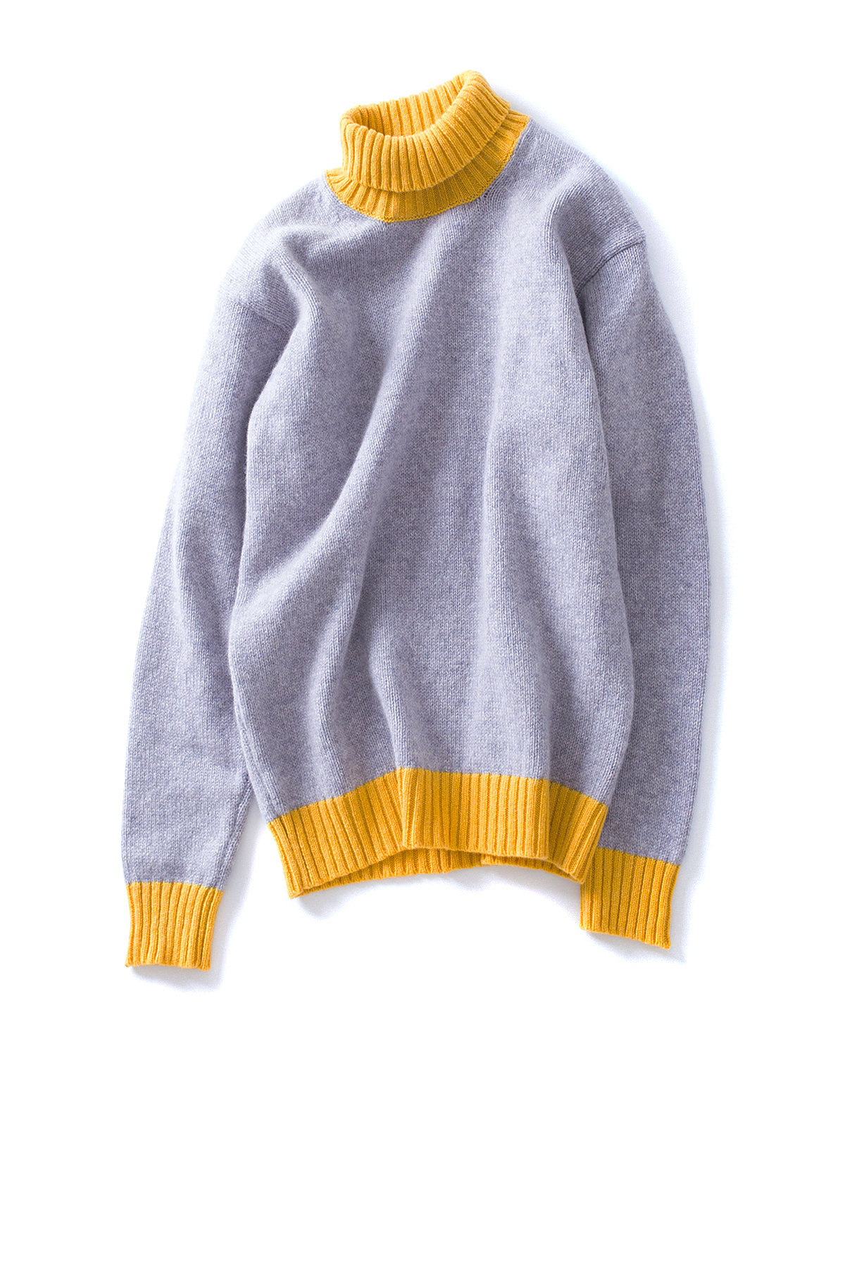 Country of Origin : Turtle Neck (Grey / Yellow)