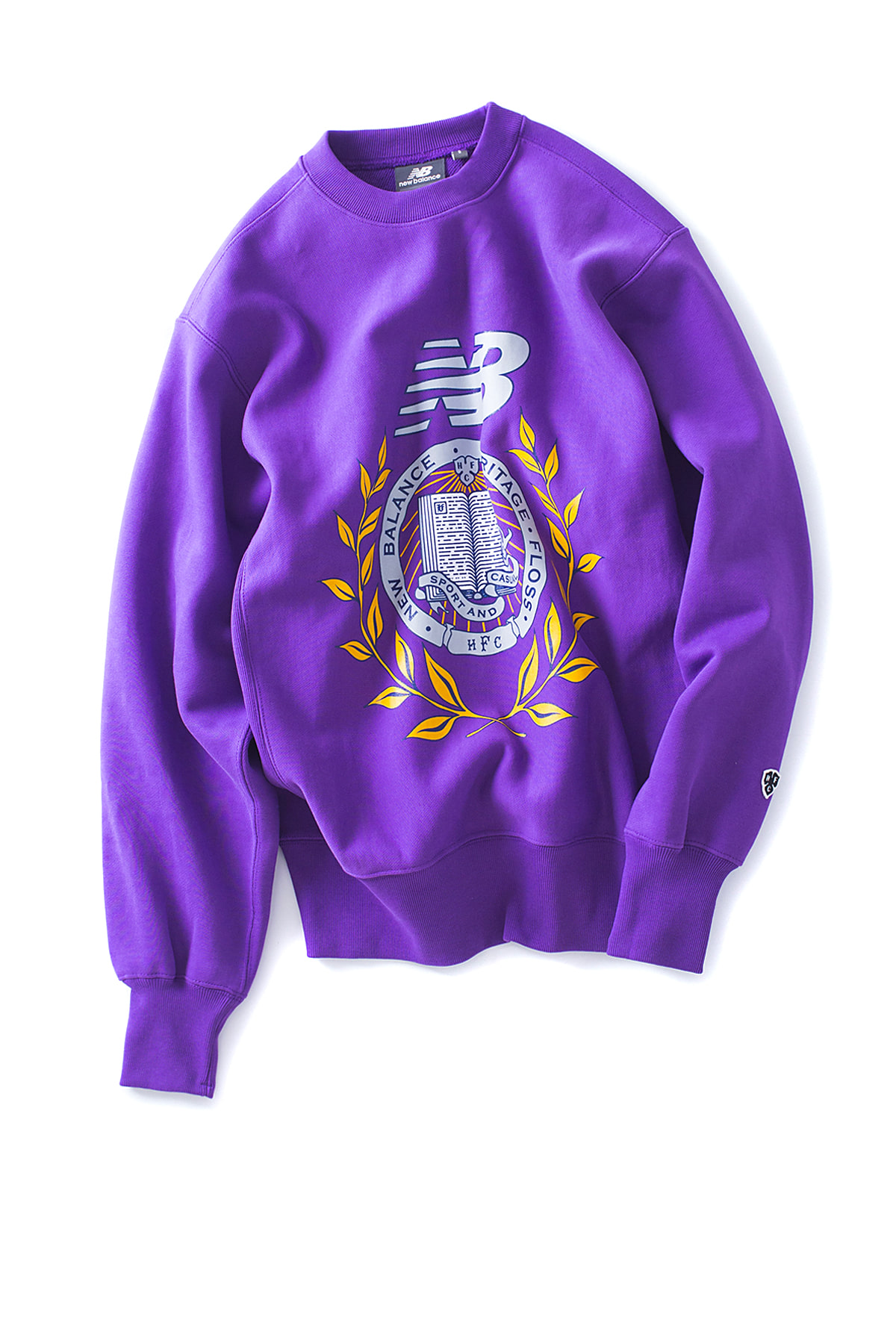 NB X Heritage Floss : Collage Crewneck (Purple)