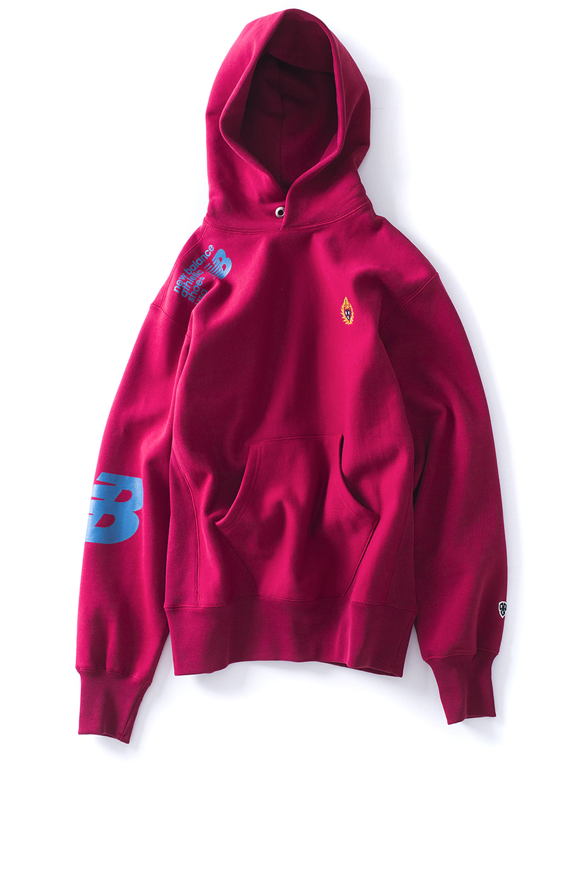 NB X Heritage Floss : Locker Room Hoodie (Burgundy)