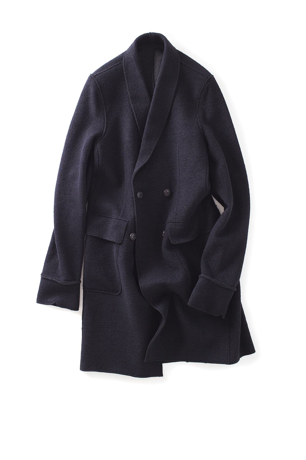 IKHENATON : Shawl Collar Coat (Black)