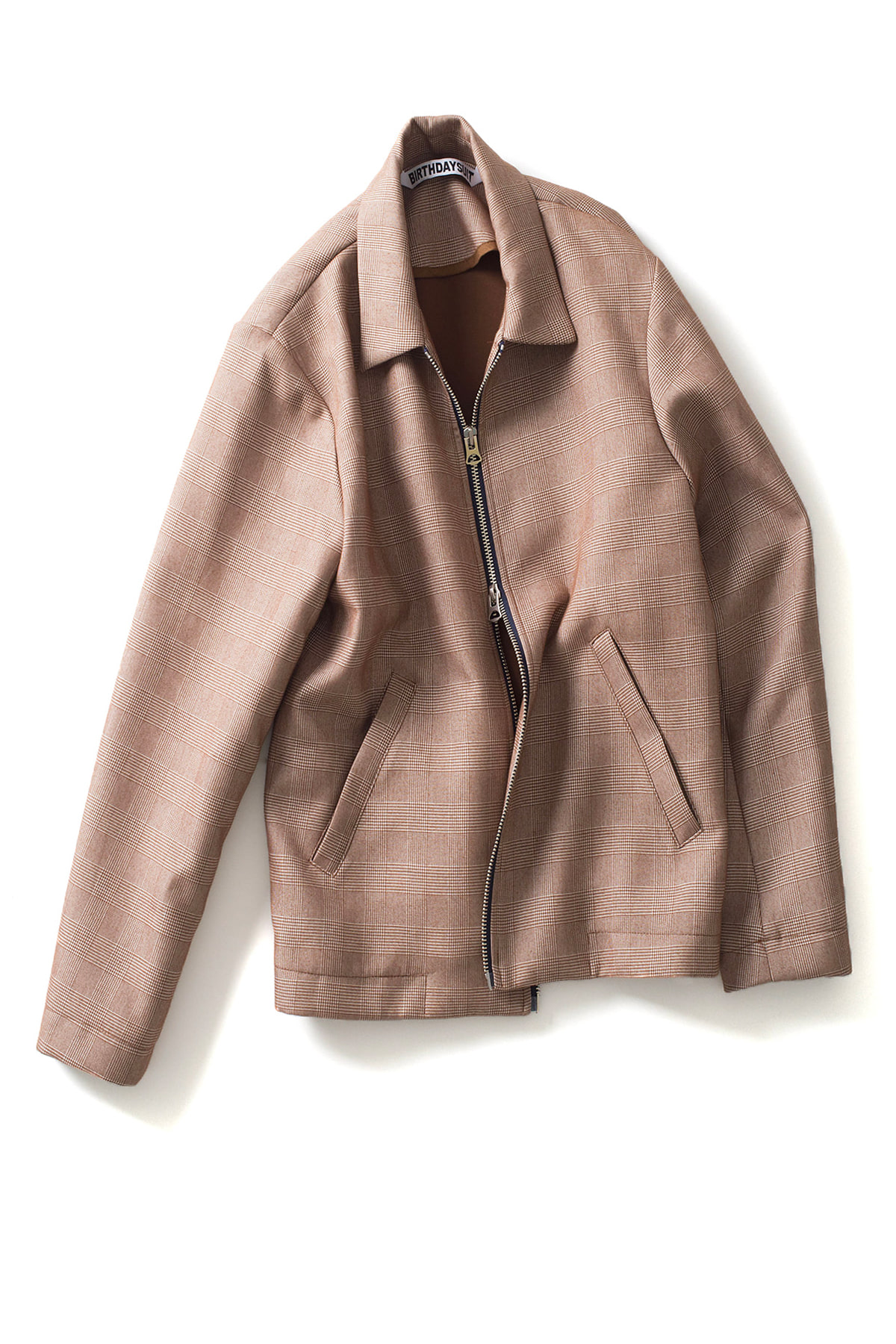 BIRTHDAYSUIT : 2-Way Blouson (Brown Glen Check)