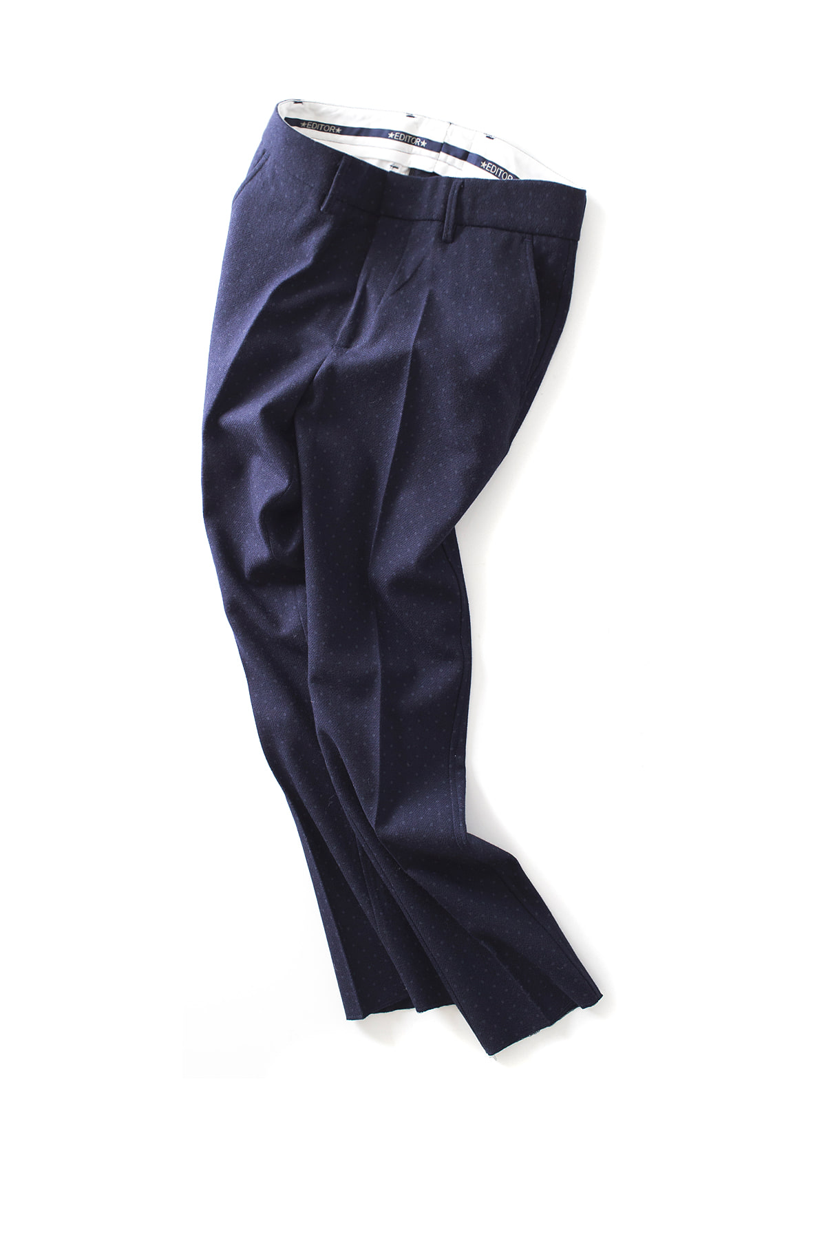 THE EDITOR : Dot Trouser (Navy)